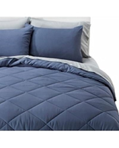 6 Pc Bed Set In Deep Blue Twin Size Let 39 S Buy Bedding
