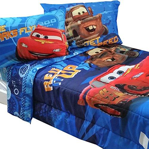 5pc Disney Cars Full Bedding Set Lightning McQueen City